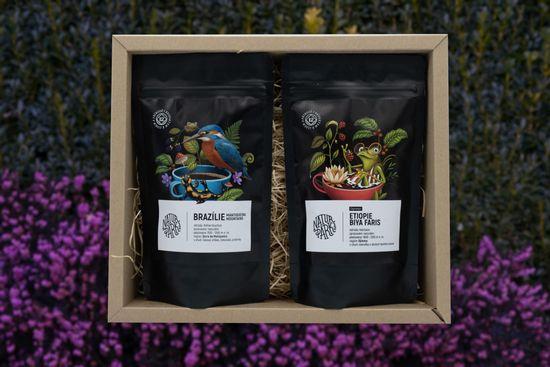 Naturpark 12 Degustační balíček na espresso 2 x 150 g, Brazílie + Burundi