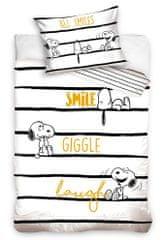Carbotex Dětské povlečení Snoopy Vždy s úsměvem