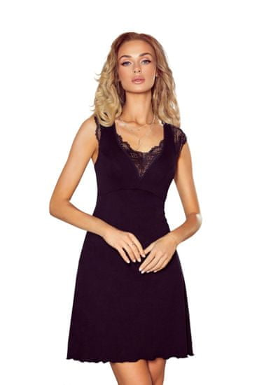 Eldar Női hálóing Nancy black + Nőin zokni Gatta Calzino Strech, fekete, XL