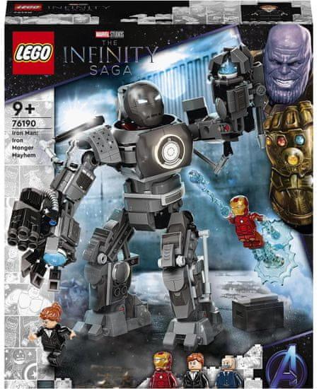 LEGO Marvel Avengers 76190 Iron Man: Besni Iron Monger