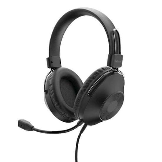 Trust Ozo USB slušalke z mikrofonom, črne