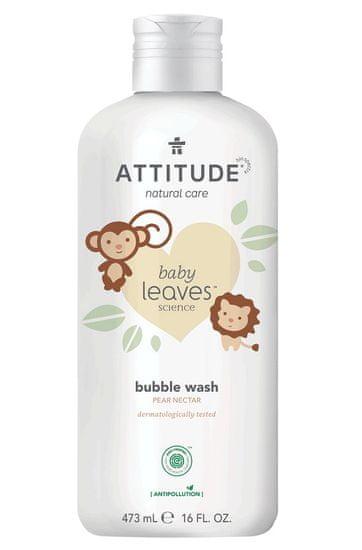 Attitude Detská pena do kúpeľa Baby leaves s vôňou hruškovej šťavy 473 ml