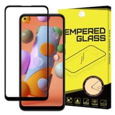 MG Full Glue Super Tough zaščitno steklo za Samsung Galaxy A11 / M11, črna