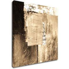 Impresi Obraz Abstrakt béžovo zlatý čtverec - 60 x 60 cm