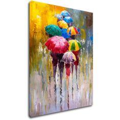 Impresi Obraz Barevné deštníky - 70 x 90 cm