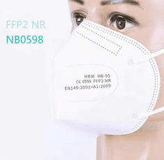 HuiBo Medical Respirátor FFP2 NR CE balení 1ks
