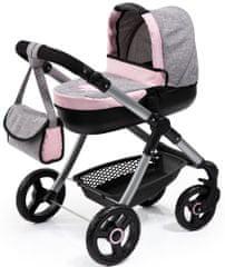 Bayer Design Style voziček za lutke, roza/siv