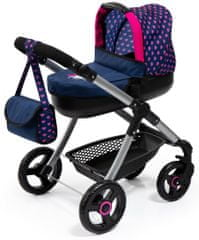 Bayer Design Style voziček za lutke, moder/roza