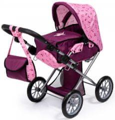 Bayer Design City star voziček za lutke, svetlo roza/temno roza