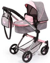 Bayer Design Neo Vario voziček, srebrn/roza