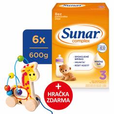 Sunar Complex 3, batolecí mléko, 6x600g