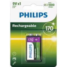 Philips polnilna baterija, 9V, 170mAh