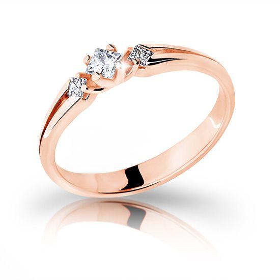 Cutie Jewellery Z6866–2105-10-X-4 Gyönyörű rózsaszín arany gyűrű cirkóniummal rózsaszín arany 585/1000