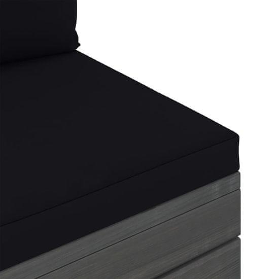 shumee 6-cz. zestaw wypoczynkowy z palet, z poduszkami, drewno sosnowe