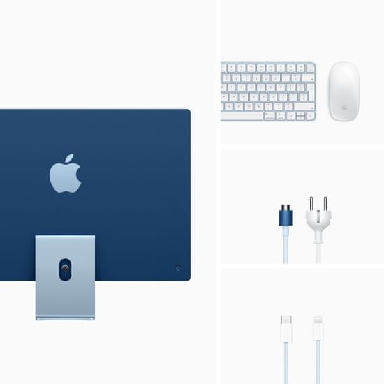 Apple iMac 24 računalnik, 512 GB, Blue - SLO (mgpl3cr/a)