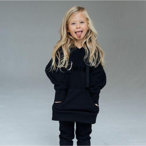 Minikid Mikina s kapucňou čierna/Minikid-Minikid