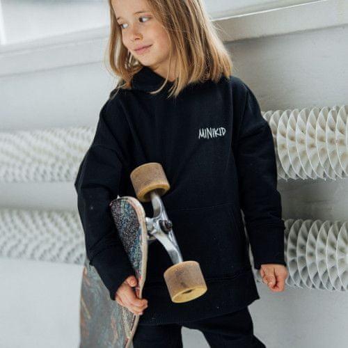Minikid Mikina s kapucňou čierna BASIC/Minikid-Minikid
