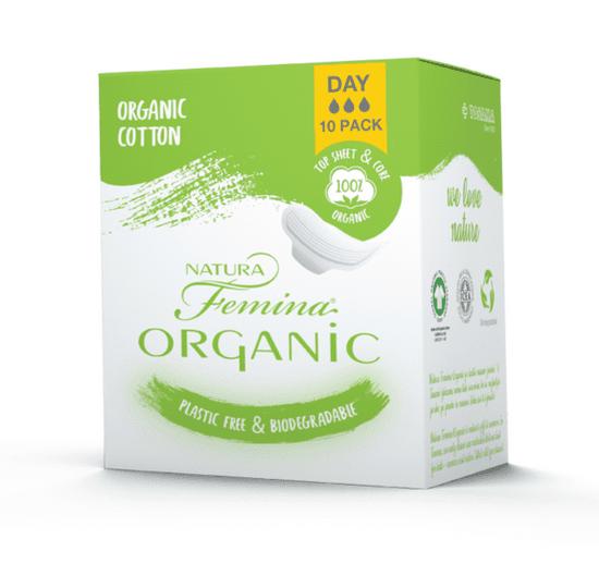 TOSAMA Natura Femina Organic BIO ulošci s krilcima, dnevni, 10/1