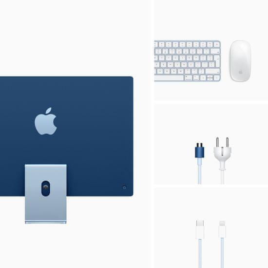 Apple iMac 24 računalnik, 7C GPU, 256 GB, Blue - INT (mjv93ze/a)