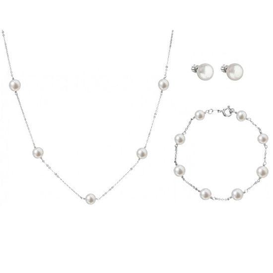 Evolution Group Kedvezményes ezüst ékszer készlet Pavona 21004.1, 22015.1, 23008.1 (nyaklánc, karkötő, fülbevaló)