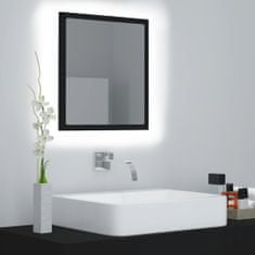 shumee Kúpeľňové LED zrkadlo čierne 40x8,5x37 cm drevotrieska
