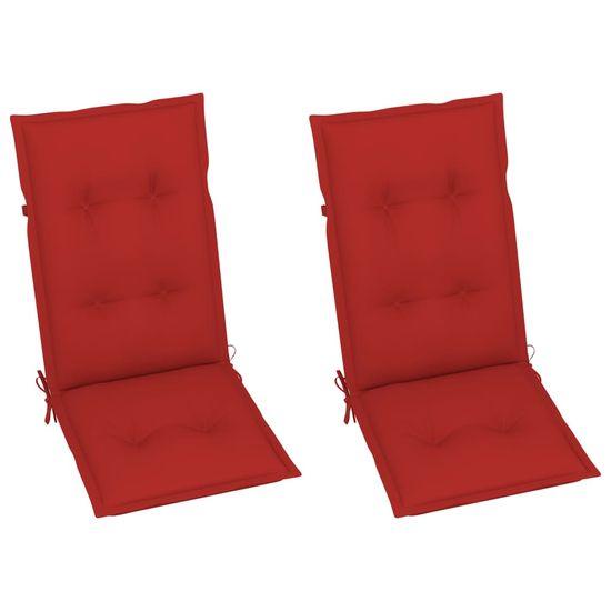 shumee Rozkładane krzesła ogrodowe z poduszkami, 2 szt., lita akacja