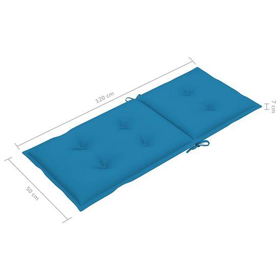 shumee 2 db kék kerti székpárna 120 x 50 x 7 cm