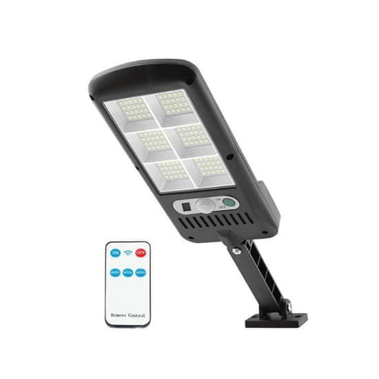 LTC Solarna LED stenska svetilka z daljincem 120 LED 24W 1800lm s senzorjem