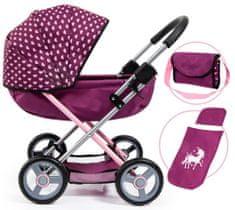 Bayer Design Cosy voziček za lutke, vinsko rdeč