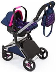 Bayer Design City Cruiser voziček za lutke, moder/roza