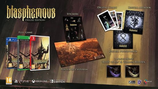 Sold Out Blasphemous - Deluxe Edition (Nintendo Switch)