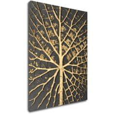 Impresi Obraz Zlatá struktura listu - 30 x 40 cm