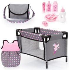 Bayer Design Zestaw akcesoriów dla lalek różowy/szary
