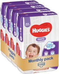Huggies Pants Jumbo 6 (15-25 kg) 120 ks - Mesačné balenie (4x30 ks)
