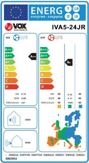 VOX electronics klimatska naprava IVA5-24JR