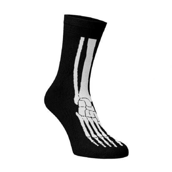BENAMI Veselé ponožky Kostra nohy Černá 33-34
