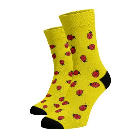 BENAMI Veselé ponožky Berušky Žlutá 33-34