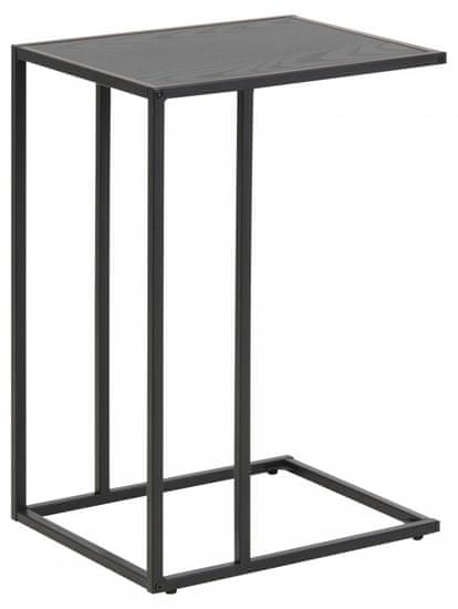 Design Scandinavia Odkladací stolík Seaford, 63 cm, čierna