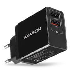AXAGON ładowarka QUICK i SMART, 2x USB port QC3.0/AFC/FCP + 5V-1.2A, 24W ACU-QS24