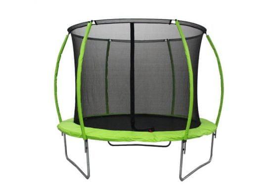 Legoni Space trampolin, z zaščitno mrežo, 366 cm, zelen