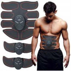 Trebušni elektrostimulator za krepitev mišic, 20 x 20 cm + 2 nastavka za roke/noge