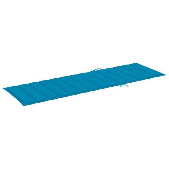 shumee kék szövet napozóágypárna 200 x 70 x 4 cm