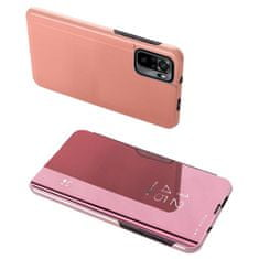 MG Clear View knjižni ovitek za Xiaomi Redmi Note 10 / 10S, roza