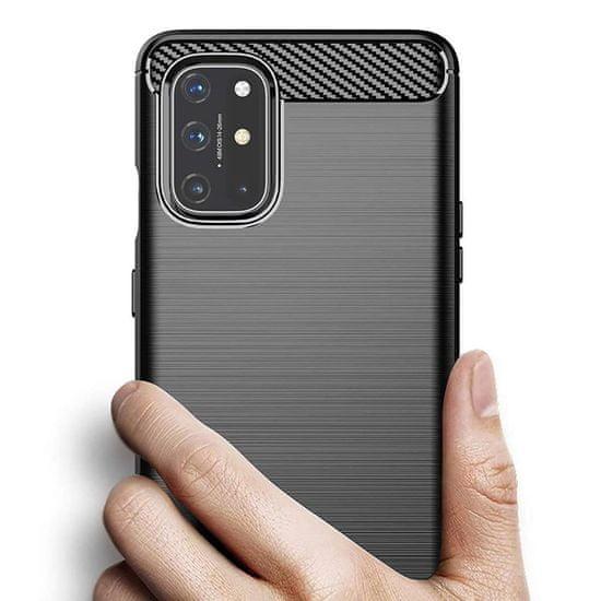 MG Carbon Case Flexible silikonski ovitek za OnePlus 8T, črna