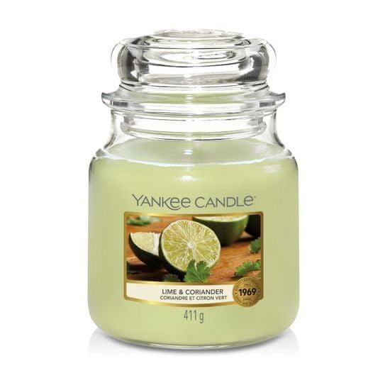 Yankee Candle Yankee gyertya LIME ÉS CORIANDER Közepes gyertya 411 g