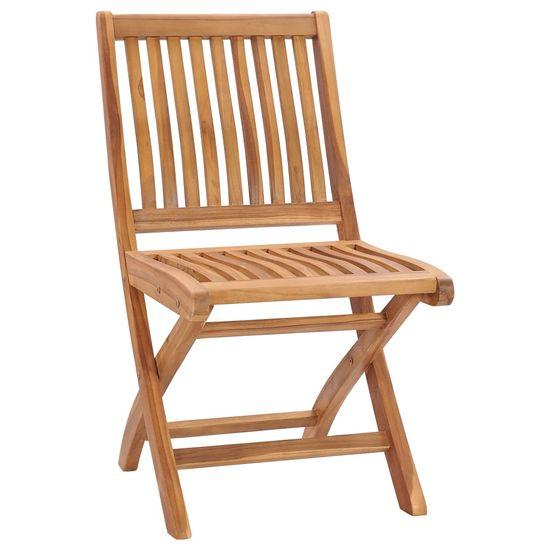 shumee 6 db összecsukható tömör tíkfa kerti szék párnával