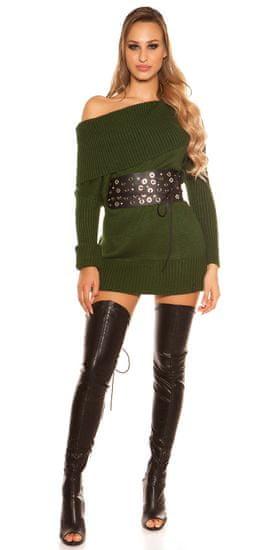 Női kardigán 71596 + Nőin zokni Gatta Calzino Strech, zöld, UNIVERZáLIS