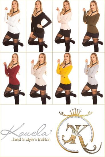 Női blúz 72302 + Nőin zokni Gatta Calzino Strech