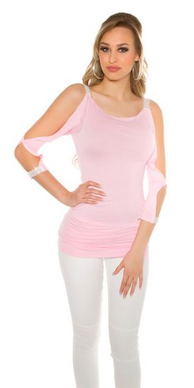 Női blúz 72539, rózsaszín, XL