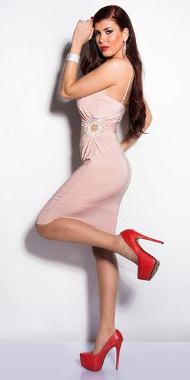 Női ruha 72915, vén rózsaszín, L